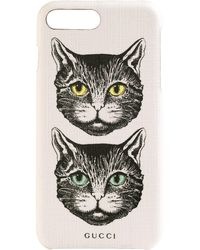 Gucci Mystic Cat Iphone 8 Plus ケース - マルチカラー