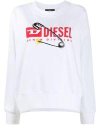 DIESEL Denim Division Sweatshirt - White