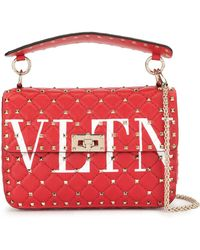 Valentino Sac à main VLTN Rockstud - Rouge