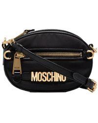Moschino Logo Cross-body Bag - Black