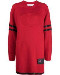 COACH Платье-свитер С Контрастной Отделкой - Красный