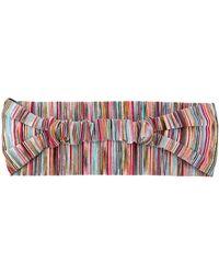 Missoni Metallic Threaded Striped Headband - Red