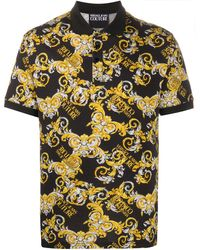 Versace Jeans Couture Рубашка С Принтом Logo Baroque - Черный