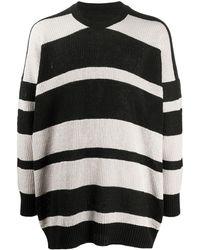 Julius ストライプ セーター - ブラック