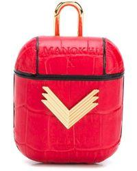 Manokhi X Velante Logo-plaque Airpods Case - Red