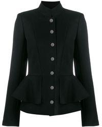 Karl Lagerfeld Peplum Waist Jacket - Black