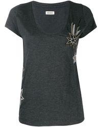 Zadig & Voltaire エンブロイダリー Tシャツ - ブラック