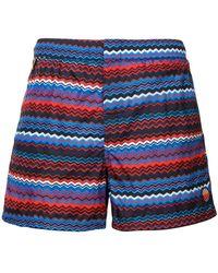 Missoni - Striped Swimming Trunks - Lyst