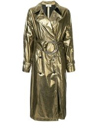 Ports 1961 - Metallic Belted Trench Coat - Lyst