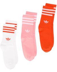adidas Set tre paia di calzini - Arancione