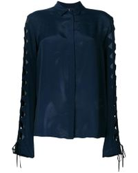 Just Cavalli - Cut-out Sleeve Shirt - Lyst