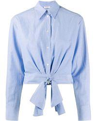 Sandro Chemise crop - Bleu