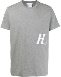 Helmut Lang Camiseta con monograma - Gris