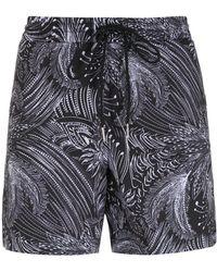 Lygia & Nanny Gil Print Shorts - Black