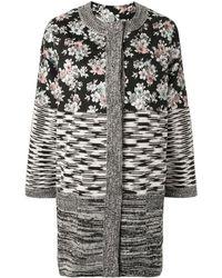 Antonio Marras Panelled Knitted Cardi-coat - Multicolour