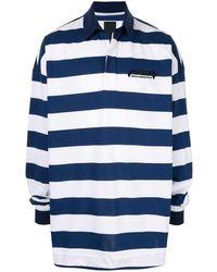 Juun.J ストライプ ポロシャツ - ブルー