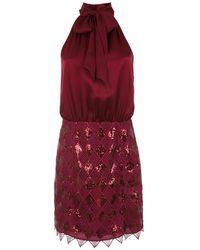 Tufi Duek Sequinned Short Dress - レッド