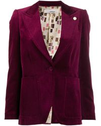 Lardini Fitted Buttoned Jacket - Red