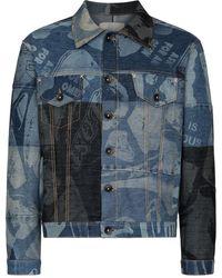 Liam Hodges Giacca denim con design patchwork Foreshore - Blu