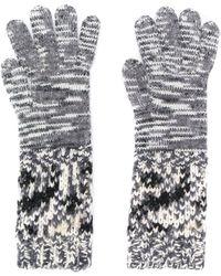 Missoni Pattern Knit Gloves - Gray