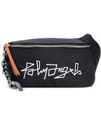Palm Angels Logo Embroidered Belt Bag - Black