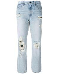 Alexander Wang - Destroyed Cult Straight-leg Jeans - Lyst