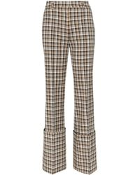 Beaufille Moretti Turned Up Cuff Straight Leg Pants - Multicolor