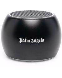 Palm Angels Круглая Портативная Колонка С Логотипом - Черный