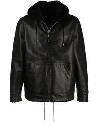 Marni Reversible Leather Jacket - Black