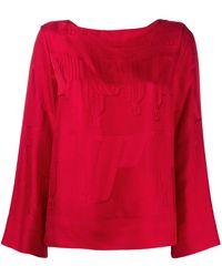 Hermès Жаккардовая Блузка Pre-owned - Красный