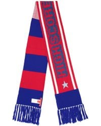 Tommy Hilfiger Mascot Striped Long Scarf - Red
