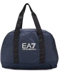 EA7 ロゴ ハンドバッグ - ブルー