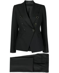 Tagliatore Double-breasted Suit - Black