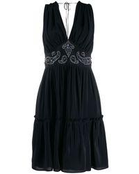 Golden Goose Deluxe Brand Присборенное Платье С Вышивкой Бисером - Черный