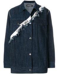 House of Holland - Taped Oversized Denim Jacket - Lyst