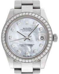Rolex Reloj Datejust de 30mm 1989 - Blanco