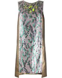 Matthew Williamson Vestido de cóctel con lentejuelas - Marrón