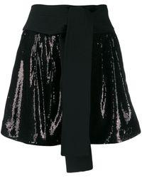 P.A.R.O.S.H. - Obi Belt Sequin Shorts - Lyst
