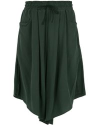 UMA | Raquel Davidowicz - Silk Wide Bermuda Shorts - Lyst