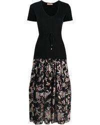 Twin Set - フローラル ショートスリーブ ドレス - Lyst