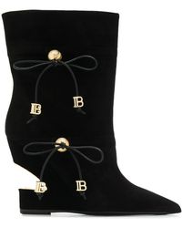 Balmain ロゴプレート ブーツ - ブラック