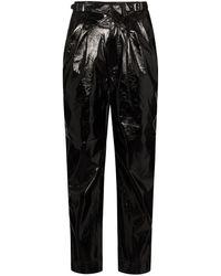 ROTATE BIRGER CHRISTENSEN Wilde Vegan Leather Trousers - Black