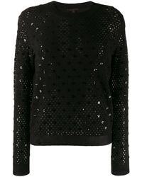 Louis Vuitton プレオウンド オープンニットセーター - ブラック