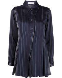 Palmer//Harding Kanzi Pinstripe Pleated Blouse - Blue