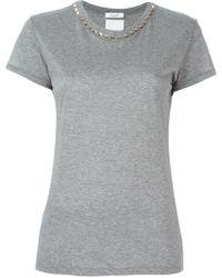 Valentino - 'rockstud' Collar T-shirt - Lyst