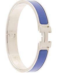 Hermès Pre-owned H Logo Clic Clac Bangle - Blue