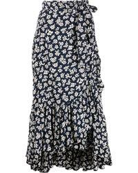 Polo Ralph Lauren フローラル ラップスカート - ブルー