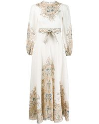 Zimmermann Freja Floral Paisley Dress - White