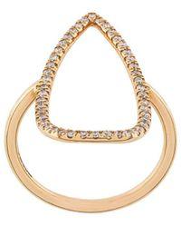Diane Kordas Gemstone Embellished Ring - Metallic