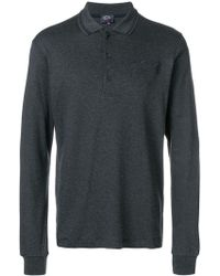 Paul & Shark - Long-sleeved Polo Shirt - Lyst
